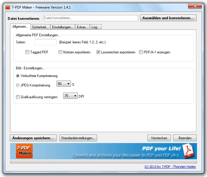 Click to view 7-PDF Maker 1.5.2 screenshot