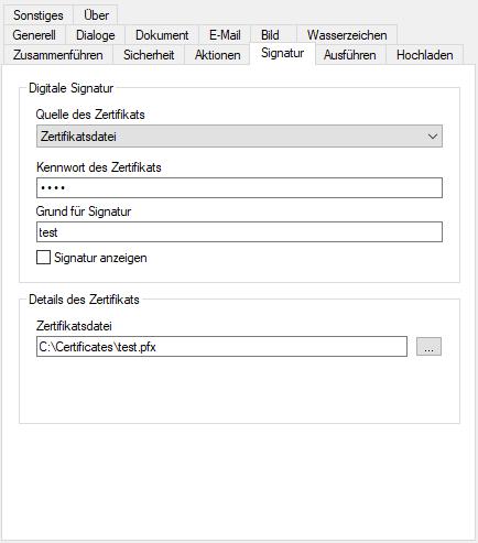 PDF-Dokumente unterschreiben